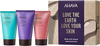 AHAVA Dead Sea Mineral Hand Cream Sets Cactus and Pink Pepper, Spring Blossom and Sea Kissed, 1.3 Fluid Ounce, 3 Count