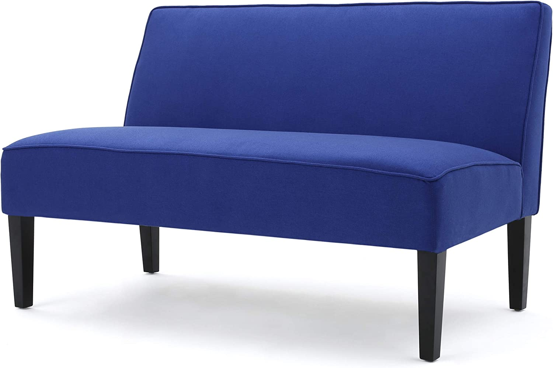 El Paso Mall Christopher Knight Home Max 60% OFF Dejon Fabric Royal Blue Loveseat