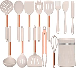 Umite Chef 14 pcs Silicone Cooking Utensils Kitchen Utensil Set - 446°F Heat Resistant, Kitchen Gadgets Tools Set with Cop...
