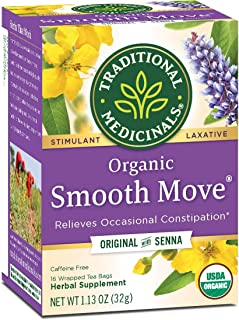 Traditional Medicinals Organic Smooth Move Tea, 96 Tea Bags (Pack of 6)