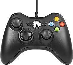 Honyuton Xbox 360 Controller, for Microsoft Xbox 360/Windows(Black)