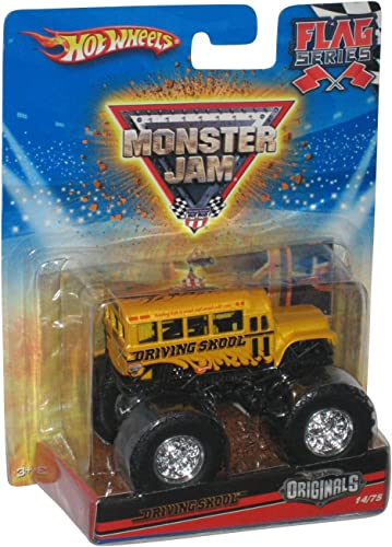 Hot Wheels Originals 2010 1 64 Scale Monster Jam Flag Series DRIVING SKOOL Bus Truck 14 75 by Mattel