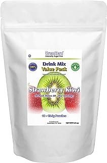 GramZero Strawberry Kiwi Drink Mix, 10/2 QT Yield (makes 80 - 8 oz servings), Stevia Sweetened, SUGAR FREE