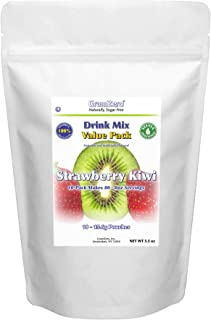 GramZero Strawberry Kiwi Drink Mix, 10/2 QT Yield (makes 80-8 oz servings), Stevia Sweetened, SUGAR FREE