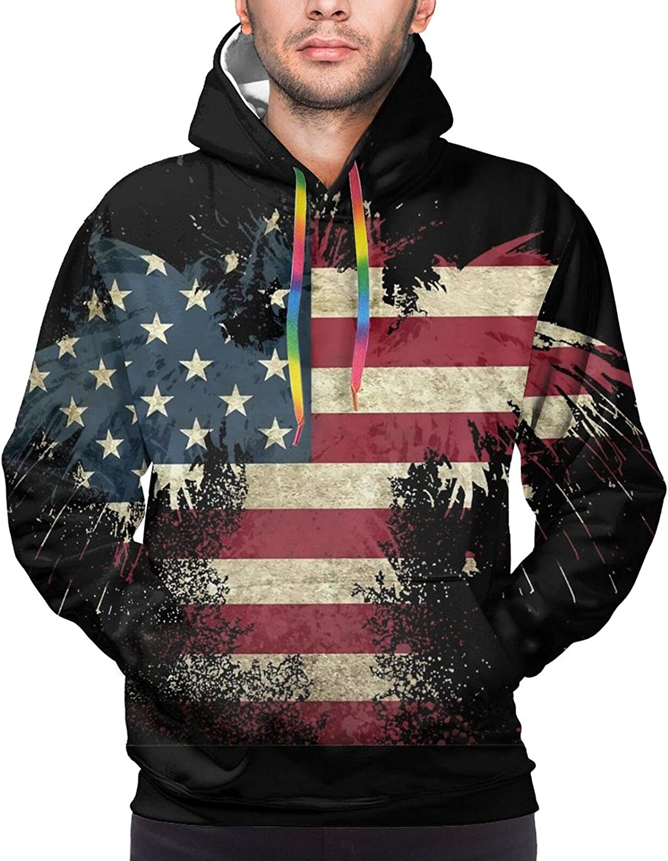 Hoodie For Men Women Unisex Cool American Flag Pullover Hooded Sports Sweatshirt