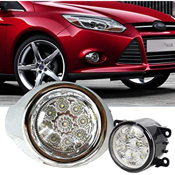 Pair front bumper fog light lamp cover W//O Hole Cap for 2012-2014 Ford Focus 13