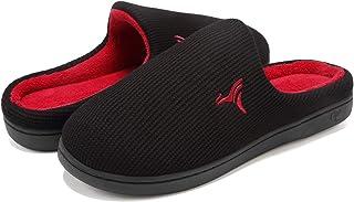 VIFUUR Uomo Pantofole Casa Alta densità Memory Foam Caldo Interni Esterni Lana Come Peluche Fodera Anti-Skid Suola di Gomm...