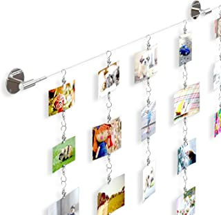 Soho Premium Expandable Chrome Photo Picture Collage Holder  Complete Hanger Set for Family Pictures Childrens Artwork and Painting Display Also Perfect for Photo Collage Projects
