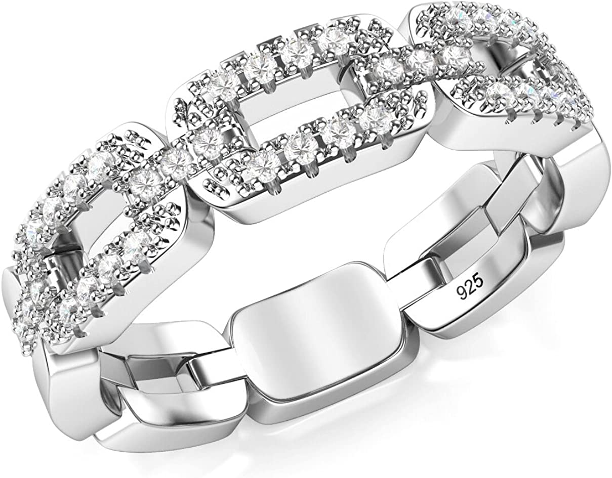 Seasonal Wrap Introduction lowest price Metal Factory 925 Sterling Silver Cubic CZ Chain Zirconia B Link