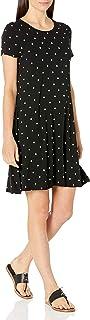Amazon Essentials Women's Short-Sleeve Scoopneck Swing Dress