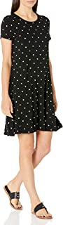 Amazon Essentials Women's Short Sleeve Scoopneck A-line Dress