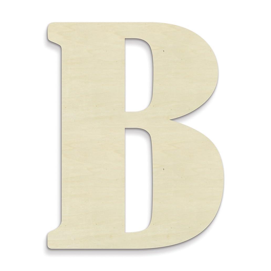 UNFINISHEDWOODCO 23-Inch Unfinished Wood Letter, Large, Letter B ouk9317471