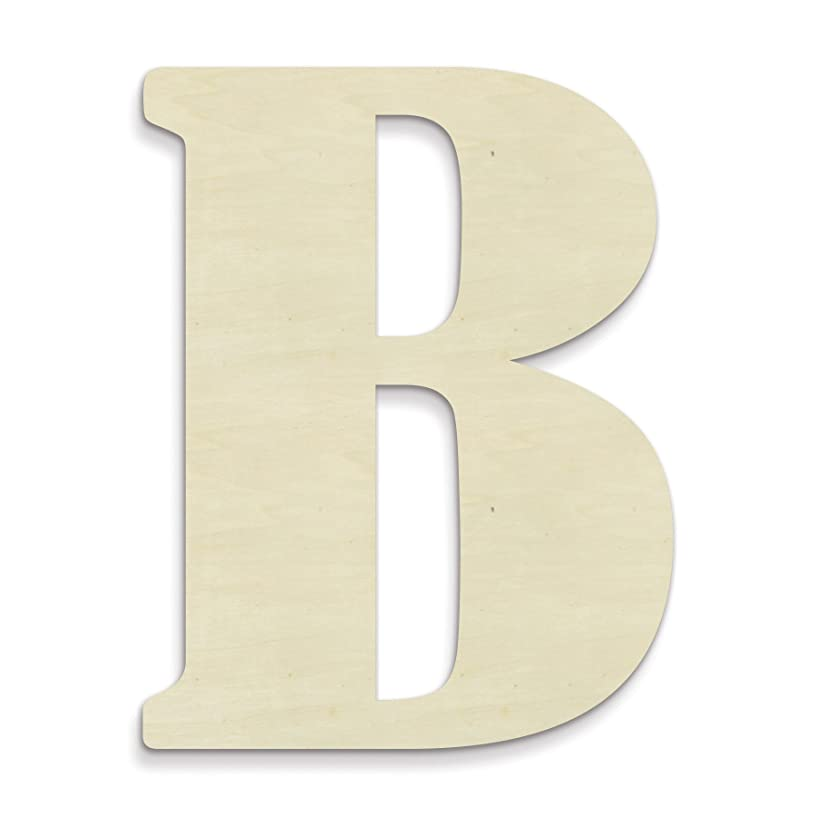 UNFINISHEDWOODCO 23-Inch Unfinished Wood Letter, Large, Letter B