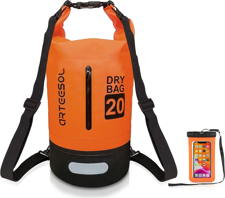 Max 77% OFF arteesol Waterproof Dry Bag 10L Floating 2021 Backpack 5L