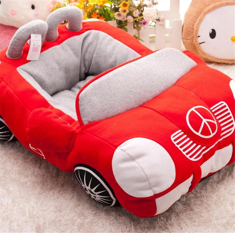 Pet Nest Fashion Cool Sports Car Car Kennel Sponge Pet Super Warm Autumn And Winter Pet Dog Sofa Dog Bed Cat Nest , red