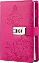 Lock Diary Secret Pu Leather Combination Lock Journal Cute Writing Notebook Refillable..