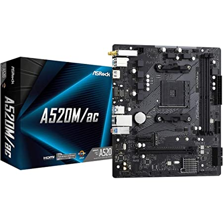 Asrock A520m Ac Micro Atx Motherboard Computers Accessories