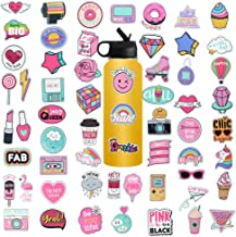 Cute Computer Laptop Sticker, Vinyl Waterproof Girl Stickers for Water Bottle Car Skateboard Luggage Guitar Bike Phone Cases Decal 60Pcs Pack
