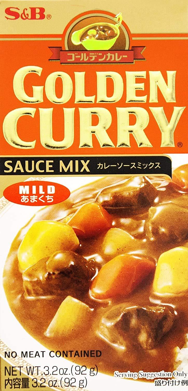 mart SB Golden Curry Sauce 3.2 oz Mild 100% quality warranty Mix