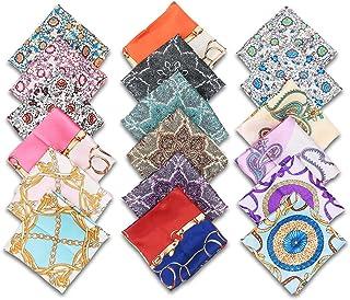 18Pcs Bandanas, Decorative Print Silk Scarves, Multi-Functional Colored Head Wrap, Fast Drying Headband, Pleasantly Cool S...