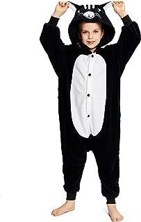 Unisex Children Black Cat Pyjamas Halloween Costume