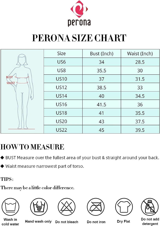 PERONA Women's Tankini Tops Tummy Control Swimsuit Tops Print Swimwear Bathing Suit Tops