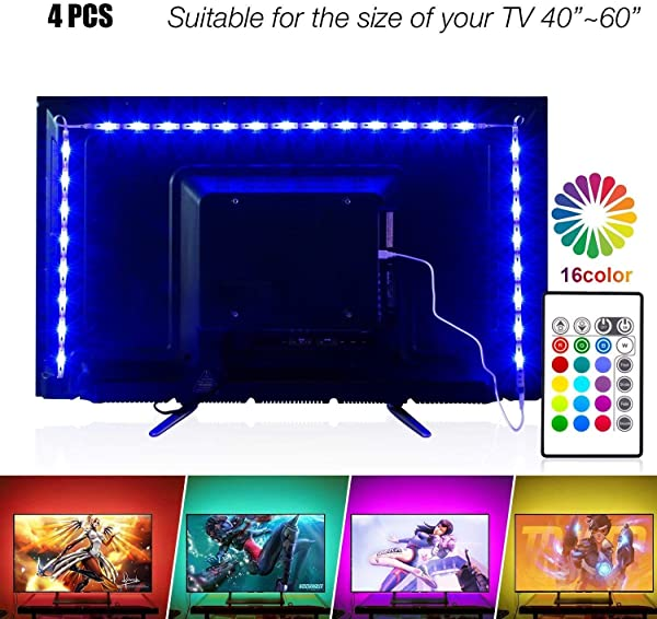 Led Strip Lights 6 56ft For 40 60in TV PANGTON VILLA USB LED TV Backlight Kit With Remote 16 Color Changing 5050 LEDs Bias Lighting For HDTV