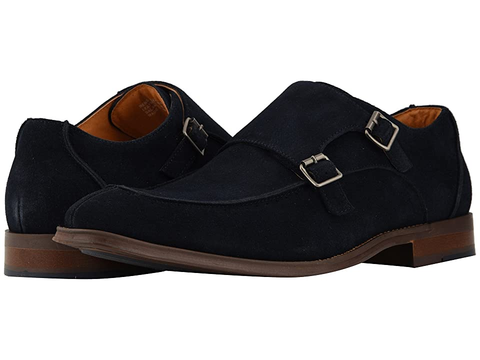 Stacy Adams Balen Double-Monk Strap Loafer (Navy Suede) Men