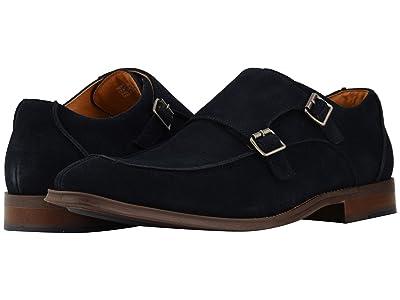 Stacy Adams Balen Double-Monk Strap Loafer (Navy Suede) Men