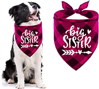 Yangmics Direct Soon to be Big Sister Dog Bandanas