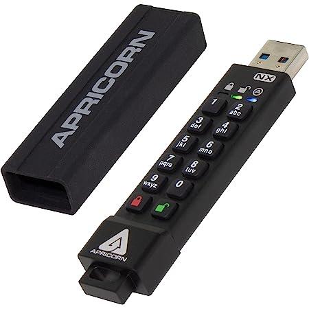 Apricorn 4GB Aegis Secure Key 3 NX 256-bit Encrypted FIPS 140-2 Level 3 Validated Secure USB 3.0 Flash Drive (ASK3-NX-4GB)