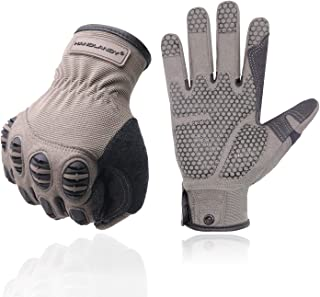 Safety Work Gloves Mechanics Gloves for Men and Women, Silicone Grip Utility Synthetic Leather Impact Work Gloves, Outdoor Sporting Hunting Gloves (XL)