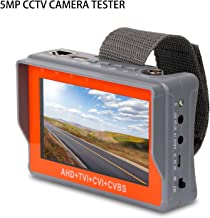 SGEF CCTV Tester 4-in-1 Portable Camera Tester 5MP AHD/TVI/CVI/CVBS Analog Tester 4.3-inch LCD Monitor Wrist Video Tester Cable Test PTZ Control 12V Power Output Audio Tester (IV7W
