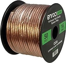 Enrock Audio 18 AWG Gauge 50 Feet Speaker Wire Cable - CCA Copper Clad Aluminum