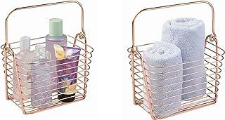 iDesign 93129EU Classico, Panier métallique, Rangement pour cuisine, salle de bains, placard, chambre, Mini - Cuivre, Copper