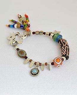 Bracciale da donna fatto a mano con un mix di perline, gioielli boho chic