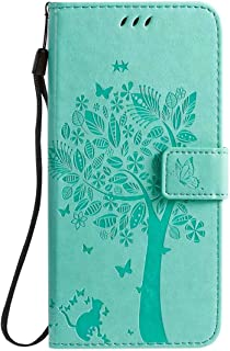 Hllycr LG K20 2019 Leather Cases for girls Flip Kickstand Case with Card Slots Protective Cover for LG K20 2019 - Green