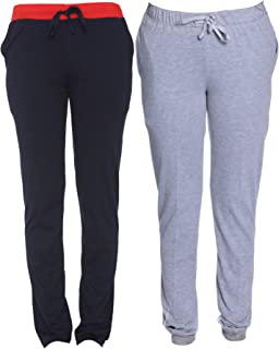 VIMAL JONNEY Multicolor Cotton Blended Trackpants for Women(Pack of 2)-F6NAVY-F4MLNG-02-P