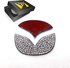 YaaGoo Bling Crystal Sitff Decoration of Steering Wheel for 3 5 6 etc Mazda Emblem Sticker