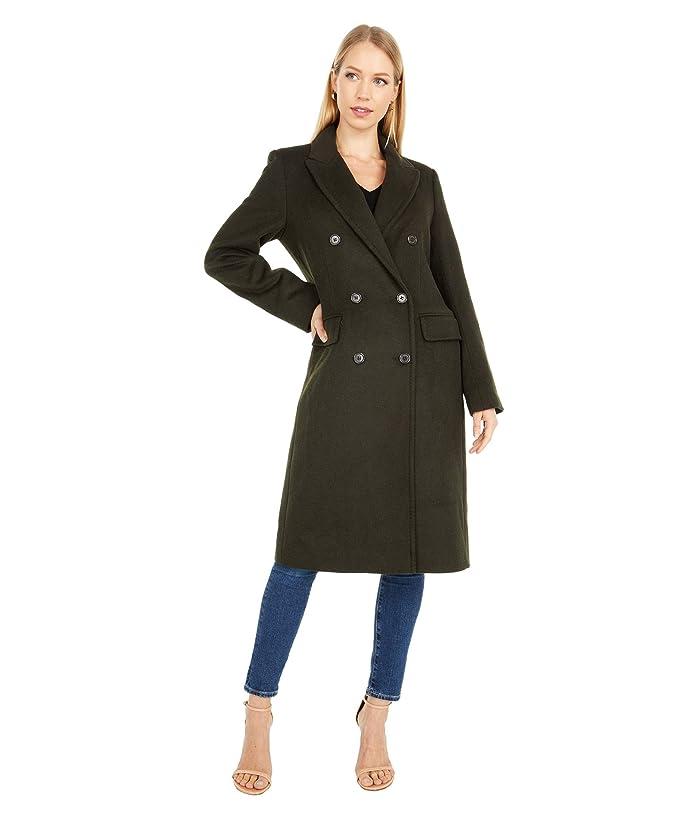 Vintage Coats & Jackets | Retro Coats and Jackets LAUREN Ralph Lauren Double Breasted Wool Reefer w Peak Lapel Military Green Womens Coat $340.00 AT vintagedancer.com