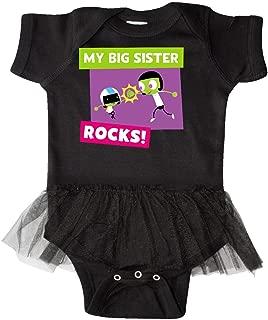 inktastic My Big Sister Rocks- Dee and Dot High Infant Tutu Bodysuit - PBS Kids