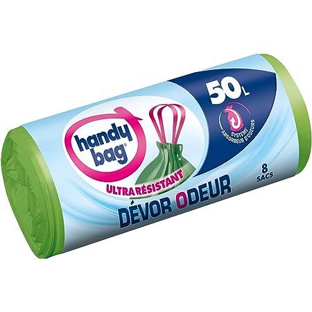 Handy Bag Sac Poubelle, Le 1 Rouleau de 8 Sacs, 50L