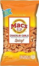Mac's Hot Pork Cracklin Curls - Crunchy Low Carb Keto Friendly Snack, Cracklin' / Crackling Curls (1.75 oz bags, 24 ct)