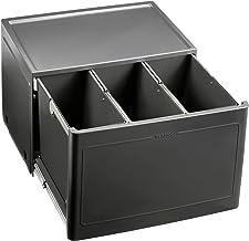 BLANCO Botton Pro 60/3 Automatic, afvalsysteem voor afvalscheiding in de keuken, met 3 vuilnisemmers (elk 13 l) en deurmee...