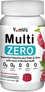 Multi Zero Multivitamin Gummies by YumVs | Keto-Friendly Sugar-Free Supplement for Women & Men | Vitamin C, A, D3, E, B6 +...