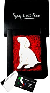 Cucciolo Fatto a Mano in Italia - Incl Confezione Regalo e Bigliettino in Bianco - Simbolo di Amore Devozione Amicizia Fed...