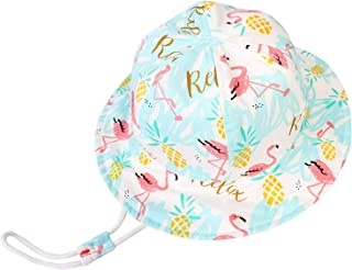 Zando Baby Sun Hats Baby Girl Boy Adjustable UPF 50+ Sun Protection Bucket Hat Toddler Summer Beach Kid Sun Caps