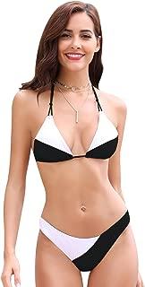 Women's Tie Side Bottom Padded Top Triangle Bikini Bathing Suit