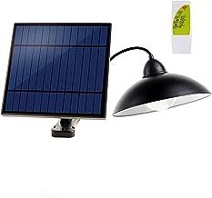 Solar Pendant Lights,X-TIGI Waterproof Solar lamp with Remote Brightness Adjustable Barn LED for Garden Yard Shed Garage (White Light)