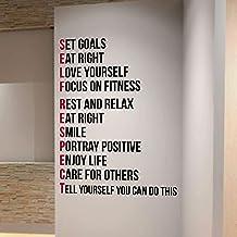 DesignDivil ZELF RESPECT Gym Muursticker Motivatie Citaat Gezondheid en Fitness Spinning Kettlebell Workout Boksen UFC MMA